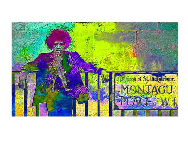 Jimi Hendrix al Montagu Place