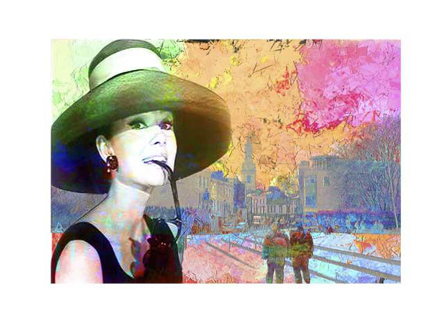 Audrey Hepburn at Greenwich Pier
